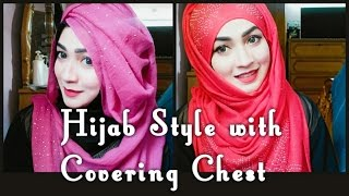 Eid Hijab style with Covering Chest | ParizaaD