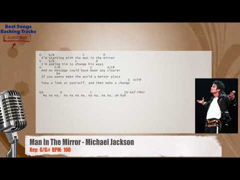 Man In The Mirror Michael Jackson Vocal Backing Track With Chords
