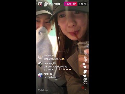 170320 Seo Yi Kyung x Lee Se Jin reunion (Lee Yo Won IG live feat UEE)