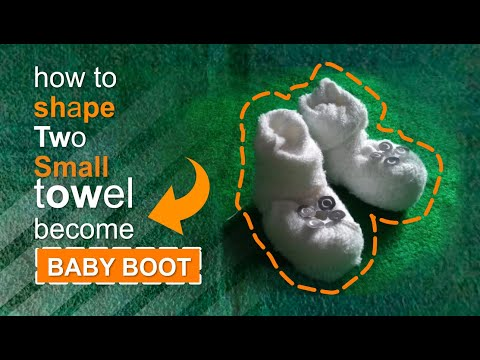 Baby Boot Towel Folding, How To Make, Watch Me Work Folding It @SIUS SARUMAHA / TD PART 1