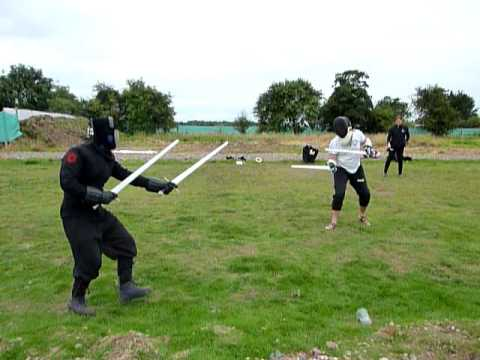 HEMA combat two swords vs two swords