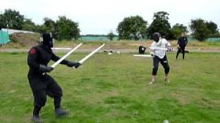 HEMA combat two swords vs two swords