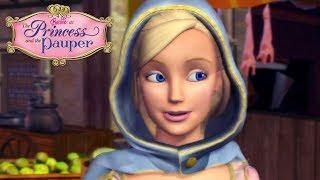 Прогулка в городе. Мультик Барби: принцесса и нищенка.