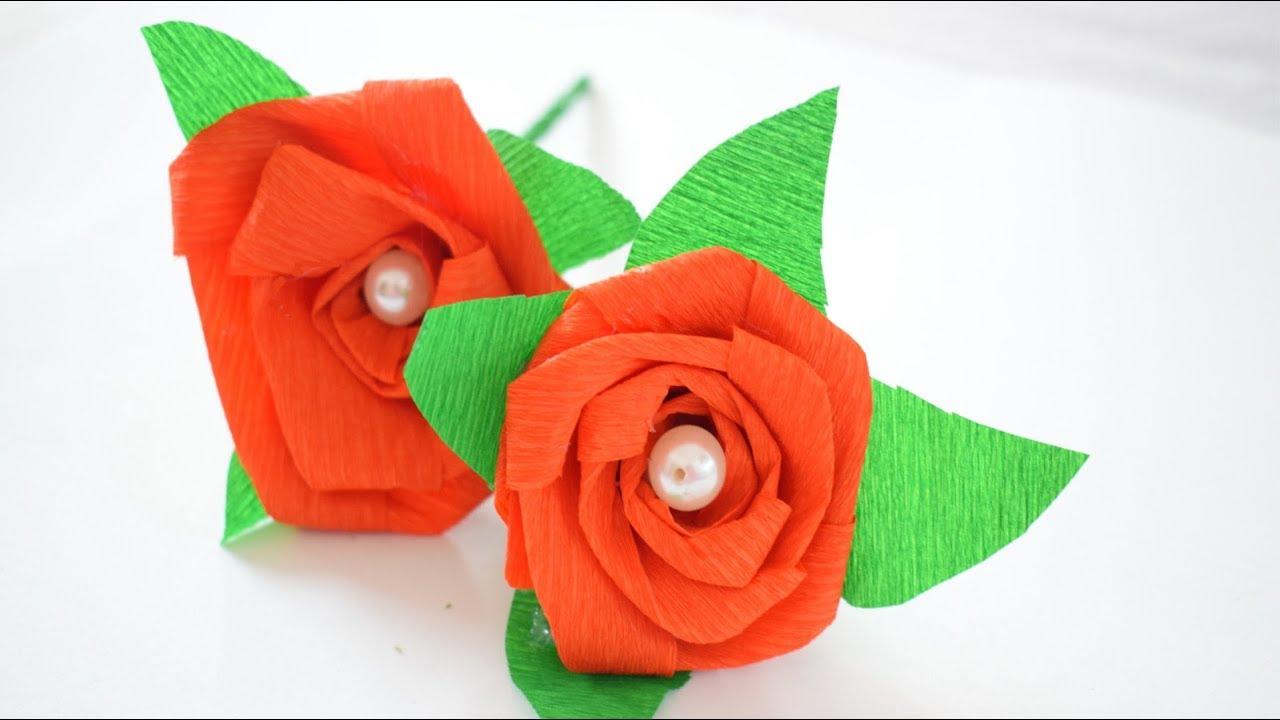 Papaveri Di Carta Crespa come fare una rosa di carta crespa - margi style