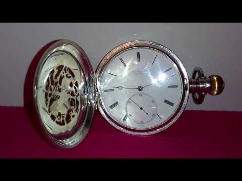 Rare Jules Jurgensen Sterling Silver Full Hunter Case Chronometer Pocket Watch 21 Jewels