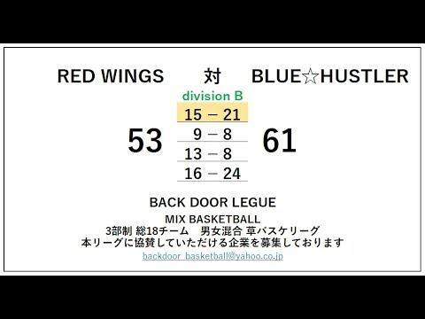 4th_BACKDOOR LEAGUE_B_RED WINGS 対 BLUE☆HUSTLER_1Q