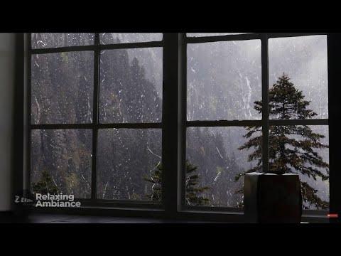 Rain On Window with Thunder SoundsHeavy Rain for Sleep, Study and Relaxation