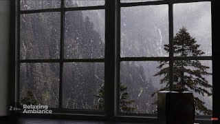 Rain On Window with Thunder SoundsㅣHeavy Rain for Sleep, Study and Relaxation