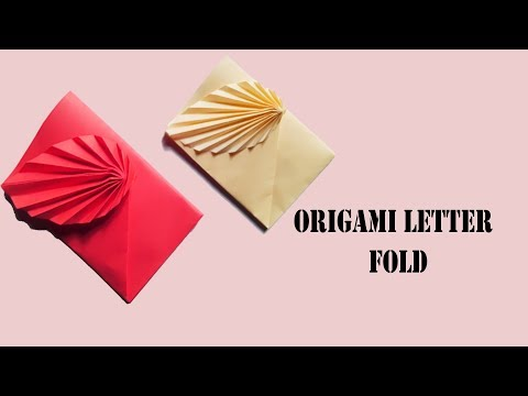 How to make a paper envelope | DIY surprise message card | Origami Letter box