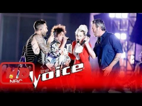 "The Voice 2017 America  Miley Cyrus, Alicia Keys, Adam Levine And Blake Shelton: ""Dream On"" - The V"