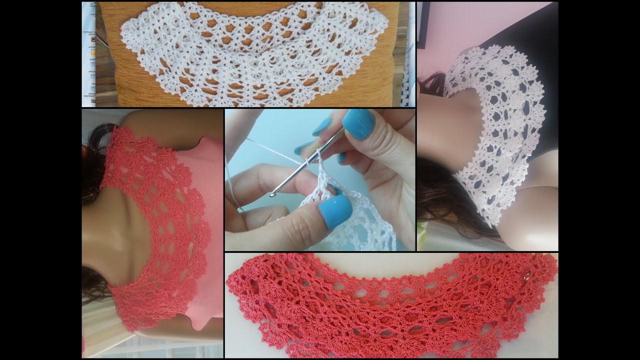 Crochet collar tutorial part 1 of 2 youtube bankloansurffo Image collections