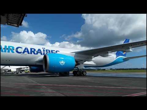 Vol inaugural A350 900 AIR CARAIBES 02- 03- 2017 Guadeloupe