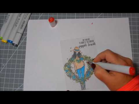 Unity Stamp Co Quick Tip Vellum Coloring and Embellishments