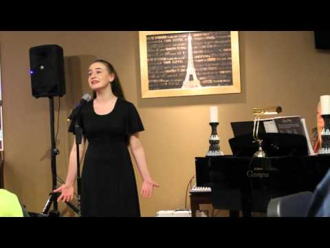 Richards Middle School Cabaret, soloist Brooke Arnold