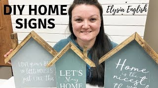 DIY Home Shaped Sign | Wood Sign | House sign | wood houses