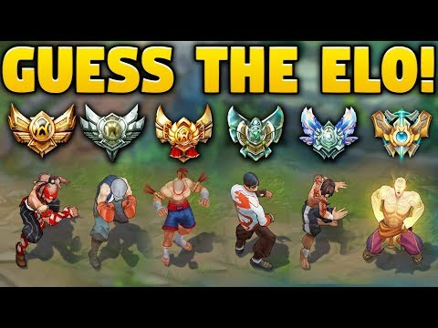 CAN YOU GUESS THE ELO? ELO GUESS CHALLENGE  99% WONT GUESS THEM CORRECTLY!  League of Legends