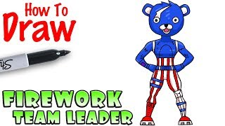 How to Draw Firework Team Leader | Fortnite