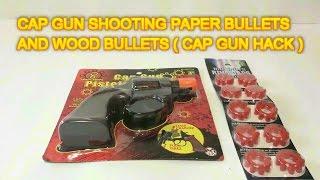 how to make a bb gun out of cap gun shooting paper and wood bullets cap gun hack