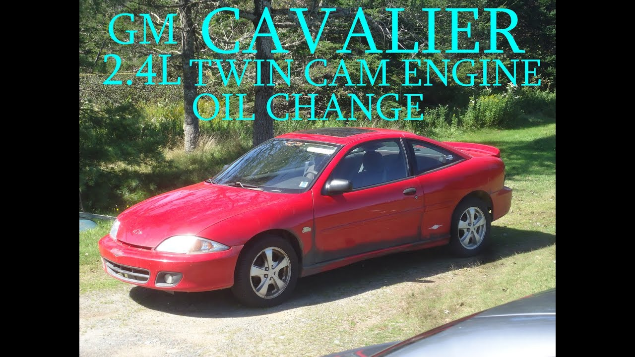 GM CAVALIER 2point4L TWIN CAM ENGINE OIL CHANGE 01 - YouTube