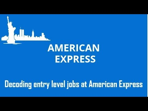 American Express Job Opening - How to get selected?