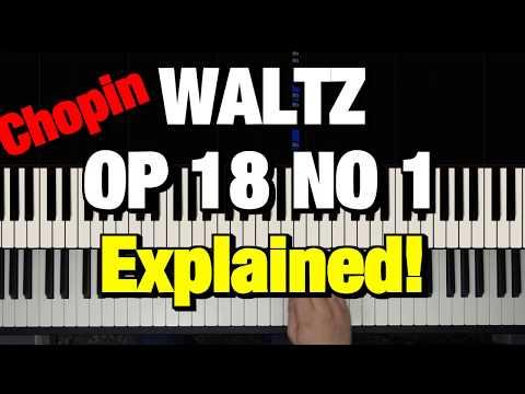 HOW TO PLAY - CHOPIN - GRANDE VALSE BRILLANTE OP. 18 (PIANO TUTORIAL LESSON)