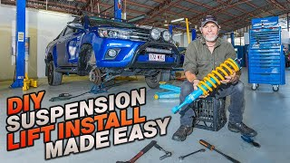 DIY LIFT KIT INSTALL SECRETS! How to install a 4x4 lift kit at home in half a day