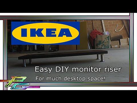 Easy Ikea Monitor Riser