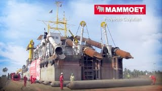 Mammoet - Transport of a cutter dredger over land into a lagoon