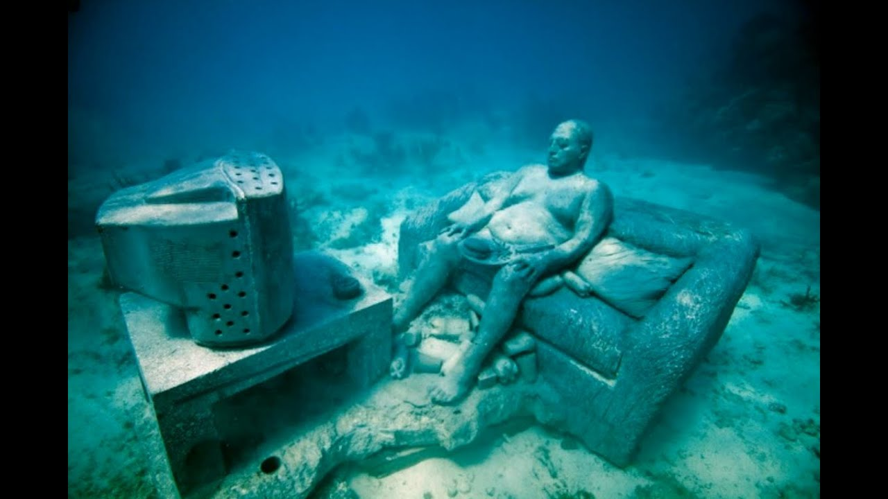 The cancun underwater museum youtube for Spain underwater museum