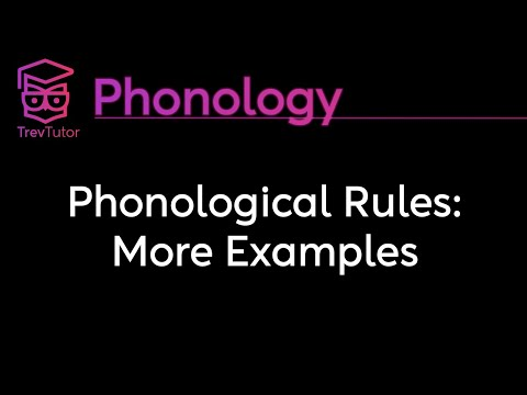 [Phonology] Phonological Rules: More Examples