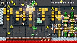 Super Mario Maker - Pit of Beetle: X-Break beaten (First clear)