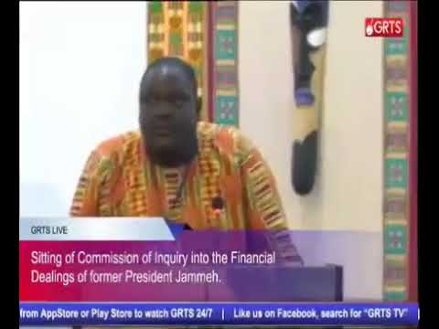 Sadibou Barrow (Gambia Ferry Services) Testifies At The Commission Of Enquiry