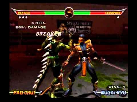 Mortal Kombat Armageddon - Reptile - Max Difficult