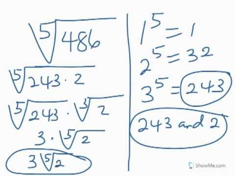 Simplifying Radicals - Part 1