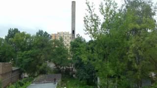 26.06.2012 Marysin wysadzanie komina kotłowni.
