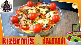 (Salata) Kızartılmış Patates Salatası Tarifi Nasıl yapılır ? Sibelin mutfağı ile yemek tarifleri