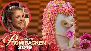 Süße 3D-Igel-Torte: Schmeckt Evis Mädchentraum? | Verkostung | Das große Promibacken 2019 | SAT.1 TV