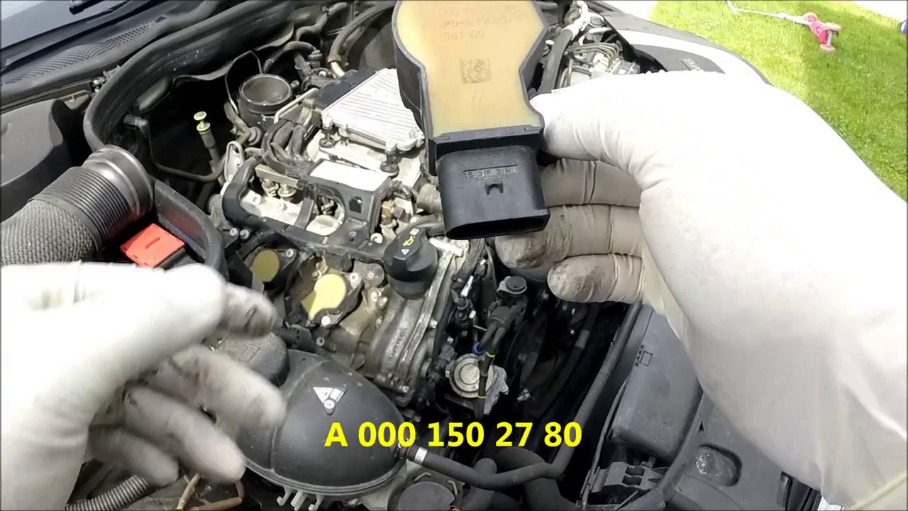 M272 Mercedes W212 E350 Ignition Coil Replacement P0301 Youtube
