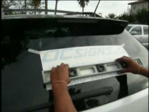 how to install vinyl lettering and graphics youtube