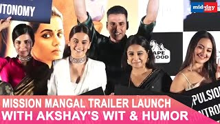 Akshay Kumar's funny responses at the Mission Mangal trailer launch
