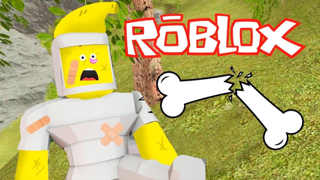 ROBLOX - QUEBREI MEUS OSSOS!!!!  (Roblox Broken Bones)