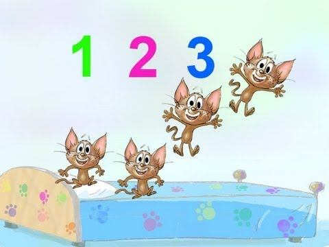 LITTLE MONKEYS JUMPING ON THE BED NURSERY RHYME SONG performed by 5 ...