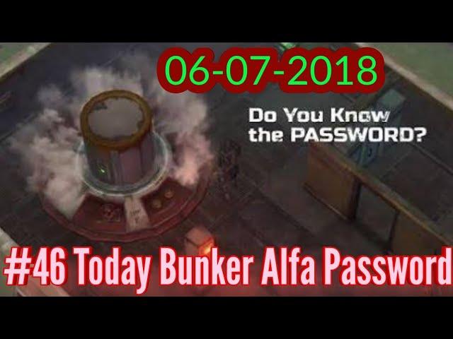 bunker alfa password