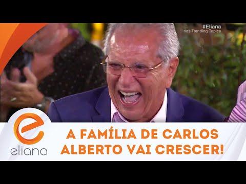 Carlos Alberto descobre que família vai aumentar e tem a melhor reação | Programa Eliana (10/03/19)