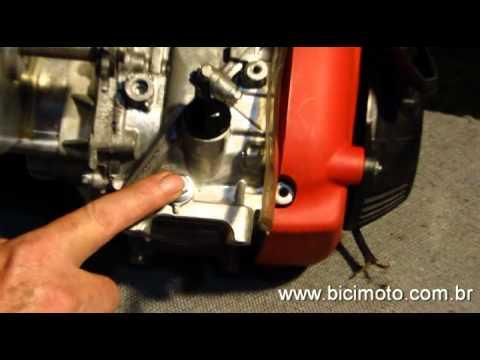 Motor Bicimoto 50cc. 4 Tempos - Verificação, astecimento e troca de óleo