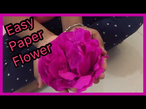paper flower#diy simple paper flower with paper napkins #diy by 7yr