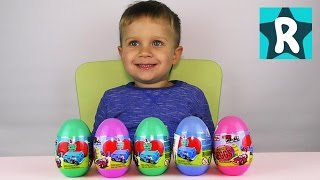 ★ Яйца с Сюрпризом Машинки Fresh Metal MAISTO Surprise eggs cars unboxing