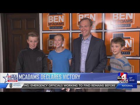 McAdams Declares Victory