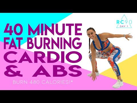 40 Minute FAT BURNING CARDIO AND ABS WORKOUT!🔥Burn 480 Calories!* 🔥Sydney Cummings