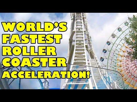 World's Fastest Roller Coaster Acceleration!  Do-Dodonpa! W/ Loop!  POV Fuji Q Highland Japan ド・ドドンパ